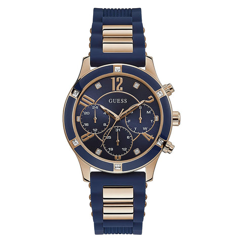 Guess Breeze Chronograph Blue Dial Women Watch W1234L4