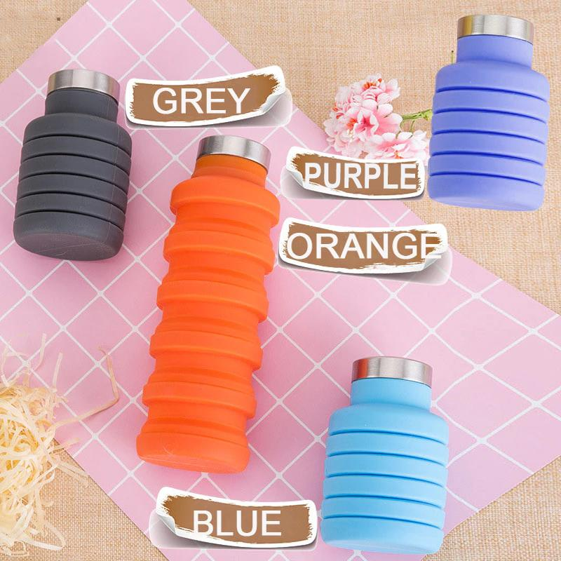 FOLDABLE ALL PURPOSE WATER BOTTLE 500 ML (Assorted Colours)