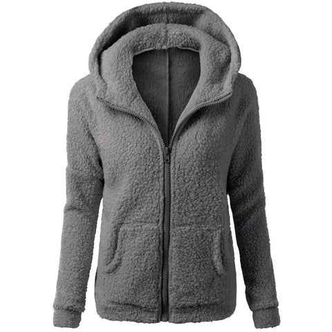 Women Fashion Casual Sweatshirt Long Sleeve Hoodies Jacket
