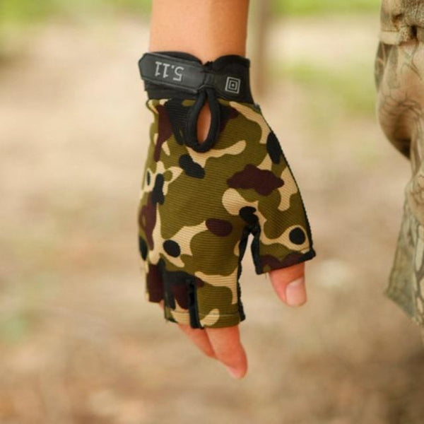 Unisex Camo Fitness Gym Gloves Full Finger Body Building Weightlifting