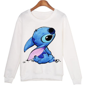 Women Plus Size Casual Cartoon Printed hoodies Sweatshirts