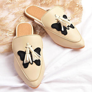 Stylish And Comfortable Creamy Mules For Women