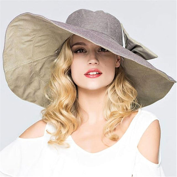 New Summer hat for women Super Large brim Beach cap sun hat female England Style