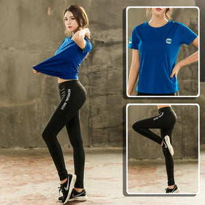 Women's Yoga Sets Yoga Sports Legging Women Fitness Gym Tshirt Yoga Bra Running Sets Exercise Workout Clothes Tracksuit