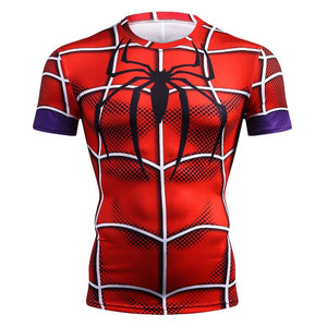Marvel Super Heroes Avenger Tshirt Men Compression Base Layer Thermal Under Causal Shirt