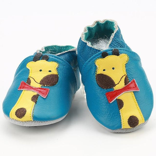 First Walkers Genuine Leather Baby Boys Girls Infant Shoes Slippers 0-6 6-12 12-18 18-24 Carton Baby Shoes