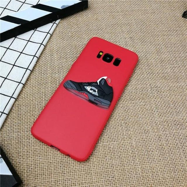 street 3D Jordan Shoes phone cover case for Samsung galaxy S6 S7 edge s8 s9 plus note 8 9 matte soft silicone coque funda capa