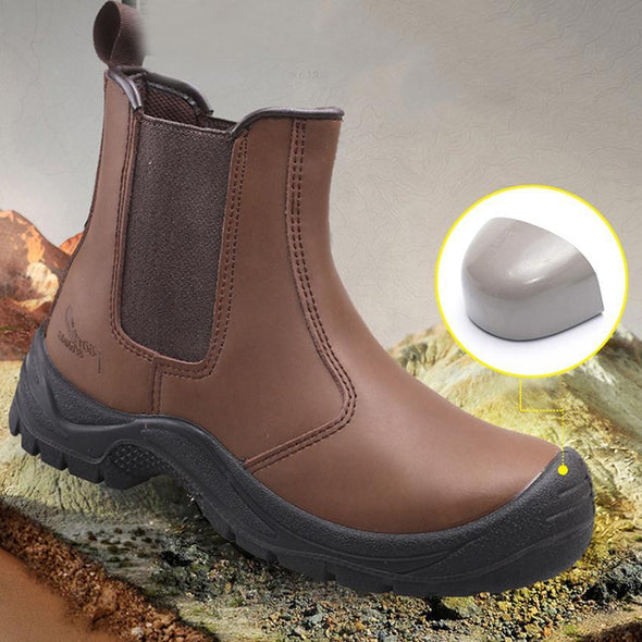 Men Steel Toe Cap Construction Carpenter Electrician Safety Ankle Boots
