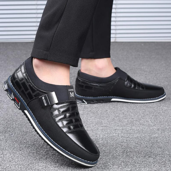Big Size Oxfords Leather Fashion Casual Slip On Formal Business Wedding Dress Shoes