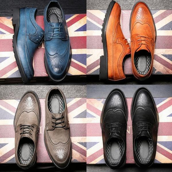 Fashion Men's British Style Leisure Oxford Shoes