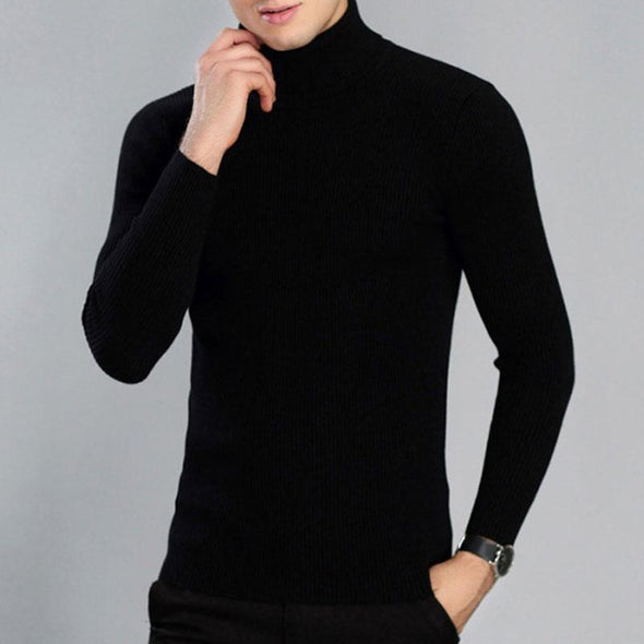 Knitted Sweaters Stretch Build Up Men's Sweater
