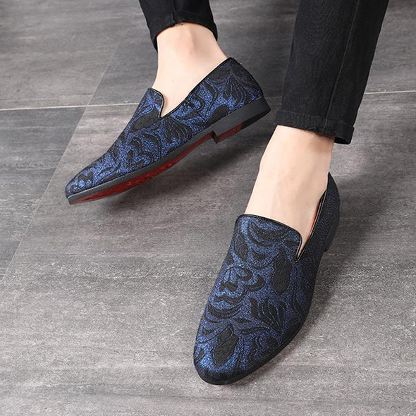 Men Dress Fats Slip On Embroidery Ethic Loafer
