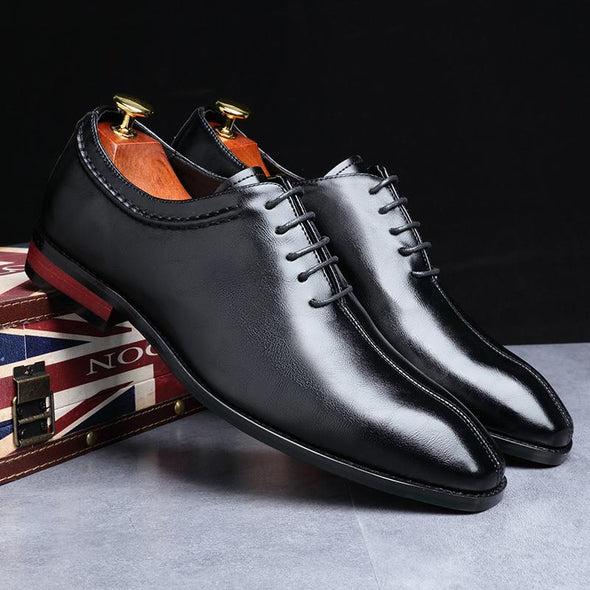 New Business Office Lace-Up  Men's Flat Party Leather Shoes