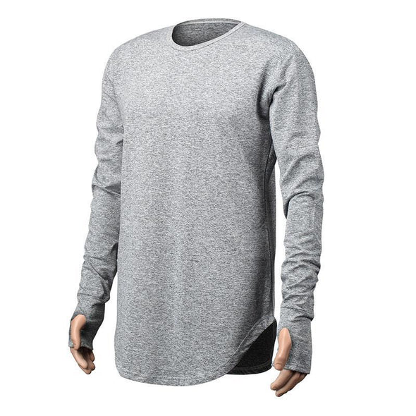 Men's Fashion Casual T Shirt Cotton Long Sleeve O-Neck High Quality Cotton Pullovers Solid Color Sweatshirts
