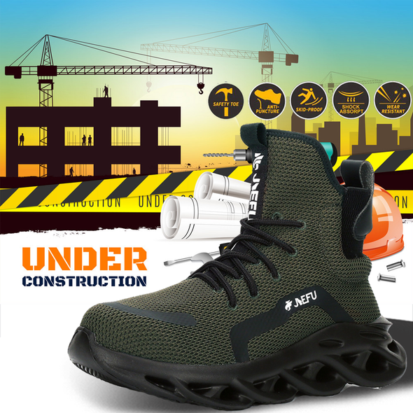 Men High Quality Steel Toe Work Safety Shoes