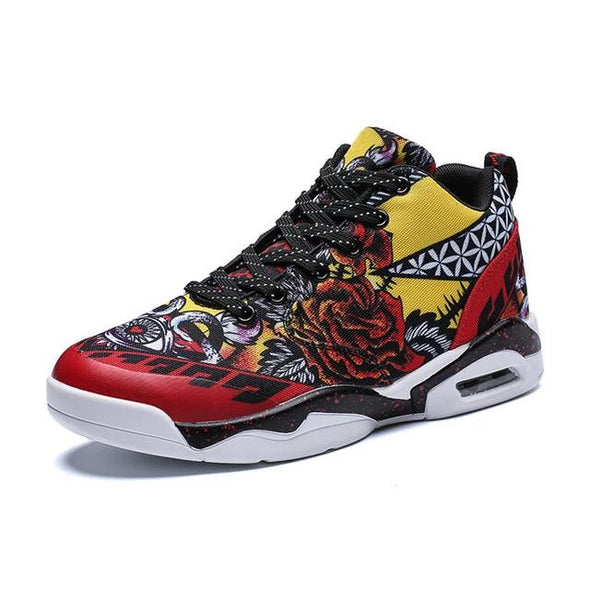 Men Fashionable Sneakers Comfortable Lightweight Basketball Shoes