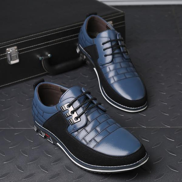 Fashion Slip On Oxfords Leather Men Formal Shoes