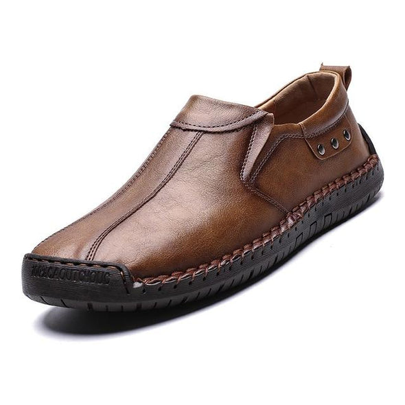 Autumn Handmade Leather Mens Slip-On Moccasins(BUY 2PCS TO GET 10% OFF)