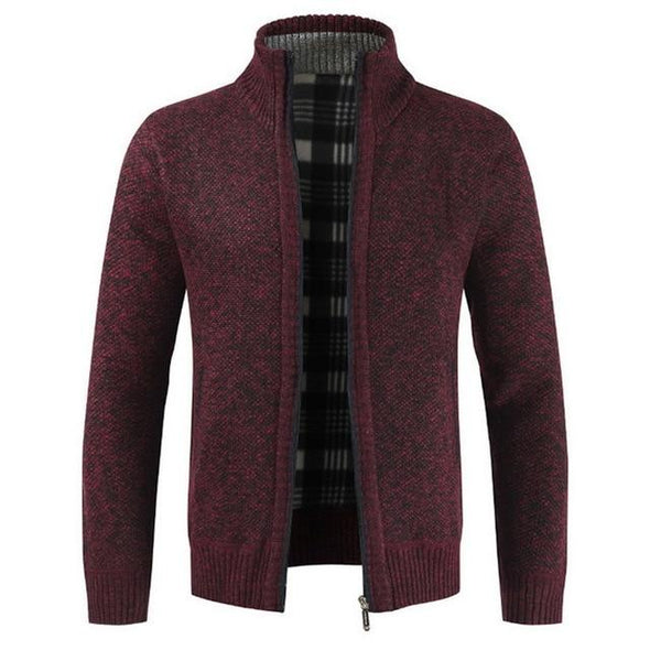 Thick Fashion Casual Sweater Cardigan Men Brand Slim Fit Knitwear Outerwear
