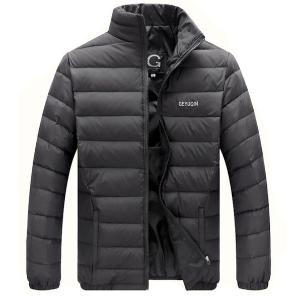 Lightweight Duck Down Jacket Men Casual Stand Collar Down Coats