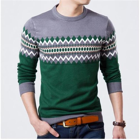 New Fashion Brand Casual O-Neck Slim Fit Knitting Sweaters And Pullovers