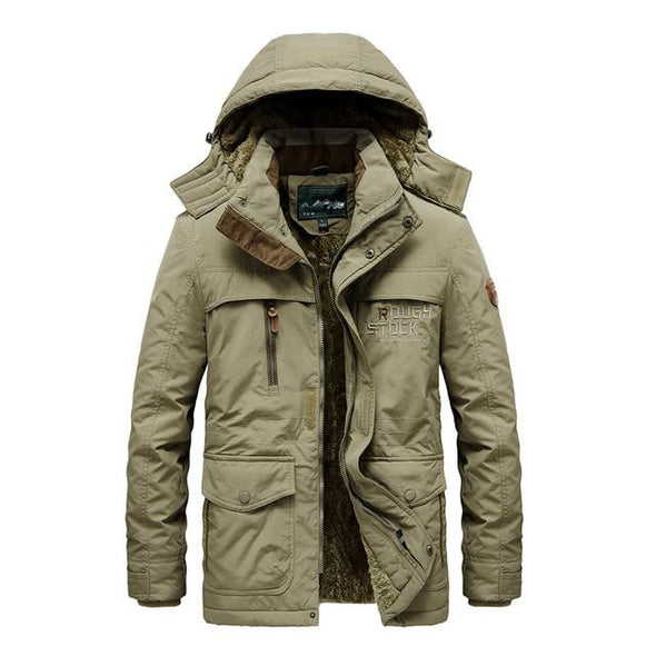 New Fur Collar Hooded Men Winter Jacket