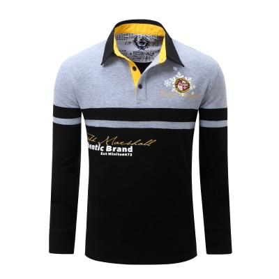 Men's Solid Long Sleeve Polo Shirt Full Sleeve Warm Shirt
