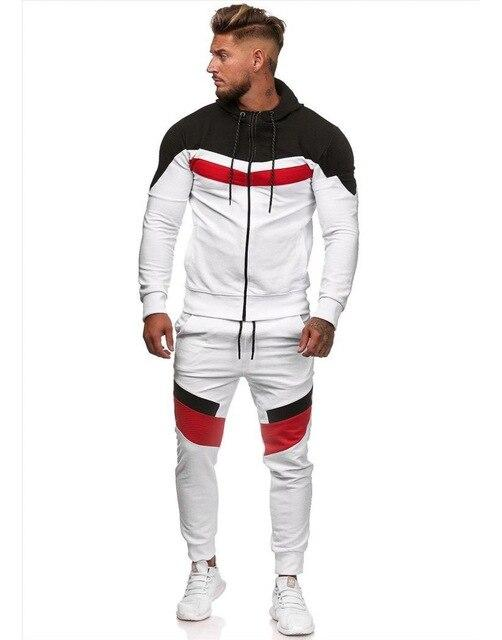 Men's Tracksuit Fashionable Style Patchwork Hoodie