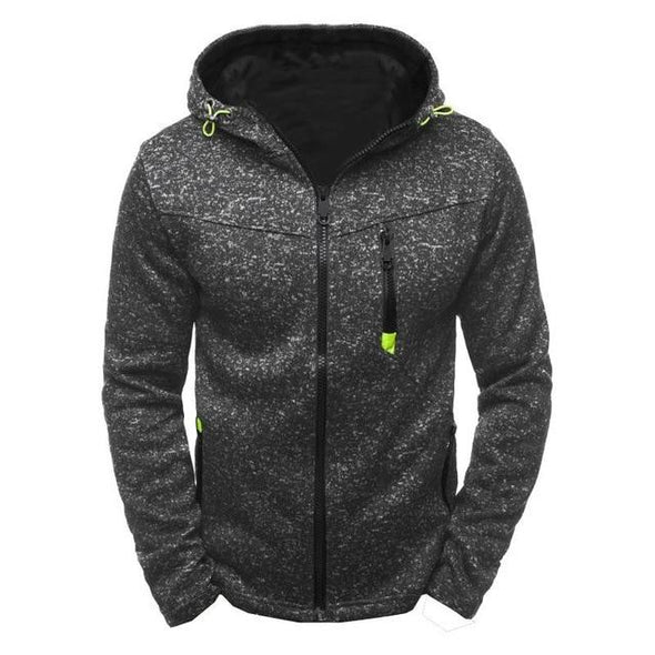 New Jacquard Hoodie Fleece Cardigan Hooded Coat
