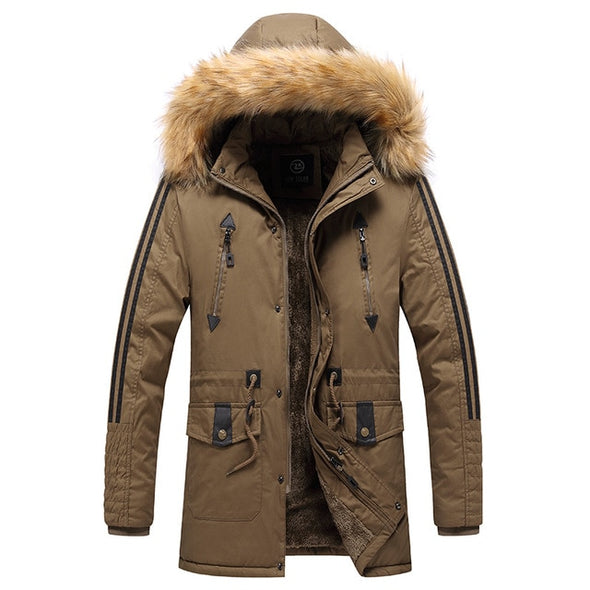 Men Winter Long Parkas Coats
