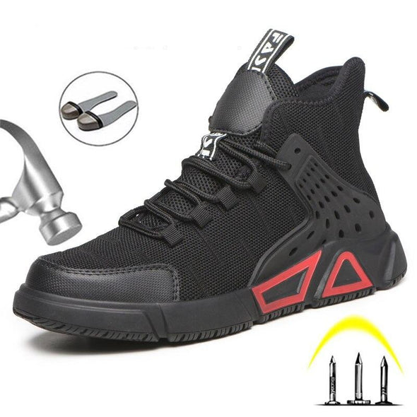 New Work Boots Breathable Safety Shoes Men