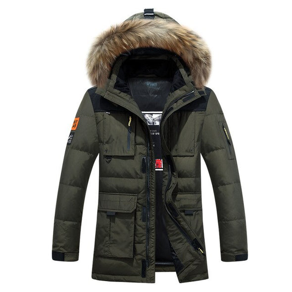 Winter Down Jacket Men's Parkas White Duck Down Parkas Coat