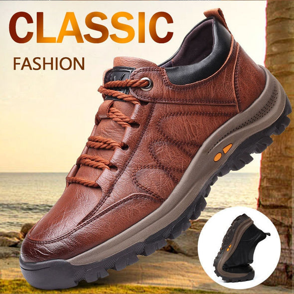 New Fashion Men's Casual  Outdoor Leather Shoes