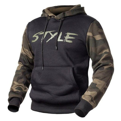 Camouflage Hoodies Pullover Fleece Hooded Sweatshirt Man