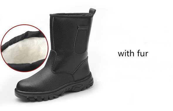 Men Fashion Plus Size Steel Toe Cap Anti-puncture Working Safety Boots