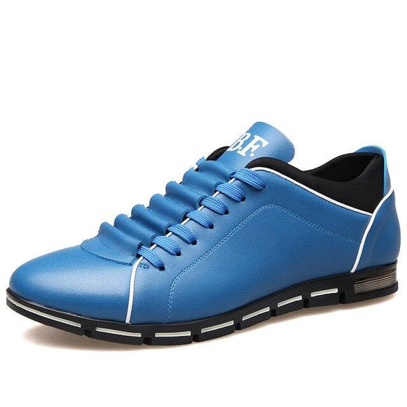 Men Comfortable Leather Flats Lace-up Business Casual Shoes