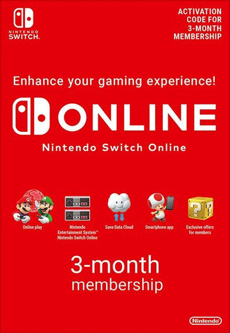 Nintendo Switch Online Membership - 3 Monate eShop Key