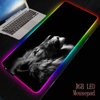 MRGBEST Outer Space Nebula RGB Soft Large Gaming Mouse Pad Oversize Glowing Led Extended Mousepad Base Computer Keyboard Pad Mat