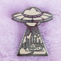 UFO nature landscape pin space lovers gift