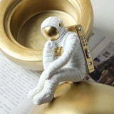 Nordic Creative Astronaut Paper Box Space Man Minaiture Model Crafts Multifunction Ornaments Home Decoration Furnishing Gift