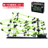 Space Coaster Spacerails Glow In The Dark Long Rail Level 3 Game 233 DIY Model Building with Steer Ball Toys for Primary Student
