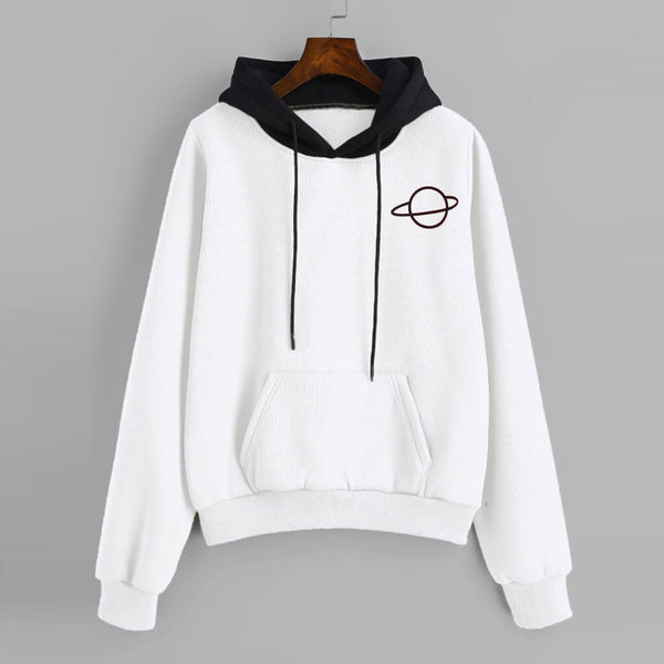 Women Hoodies Women Casual Long Sleeve Pouch Pocket Pullover Hoodie Top Blouse толстовка худи