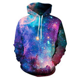 2020 New Colorful Space Galaxy Hoodies Sweatshirts 3d Nebula All Over Print Hooded Pullovers Coat Men Women Sportswear Couples