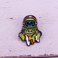 Space madness enamel pin dangers of deep space travel sci-fi gift