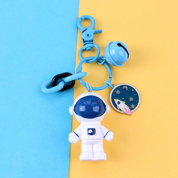 Fashion Space Astronaut Keyring Cute Car Key Chains Women Men Bag Pendant Keychain Jewelry for Boy Kids Keyfob Gifts