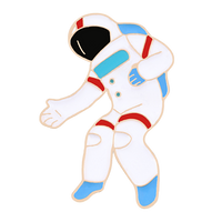 Space Enamel Pin I need my space Cup Brooch Astronaut Rocket constellation Pins Lapel Christmas Kids Gift Brooches Badge Jewelry