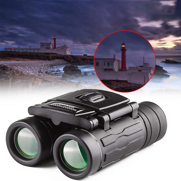 60x42 Compact Zoom Binoculars Long Range 1000m Folding HD Powerful Mini Telescope Optics Hunting Sports Camping Trave