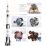 37003 NASAS Apollo Saturn V Compatible IDEAS 21309 Building Blocks Bricks Educational Toys Child Christams Gifts