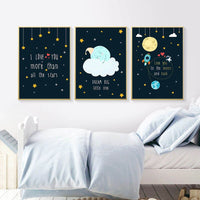 Rocky Space Nursery Quotes Child Poster Canvas Art Decorative Print Wall Painting Decoration Picture Nordic Kid Baby Room Decor