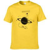 Astronaut Explore Saturn T shirt Men summer short sleeve fashion T-shirt Cotton Cool Tees Tops Brand Clothing #226